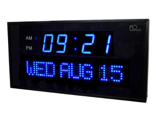 Extra Large Digital Wall Clock Large Digital Wall Clock Led Wall Clock Wall Clock Simple
