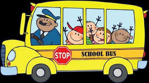 The Children Go To School By Bus Cartoon School Bus School Bus