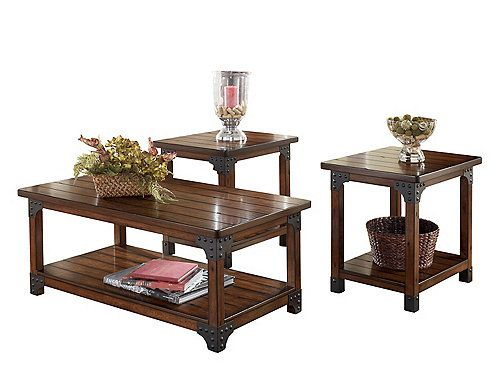 The Rich Finish And Rustic Design Of The Jonah 3 Piece Table Set Create A Warm Inviting Feel That S Living Room Table Sets Coffee Tables For Sale Coffee Table