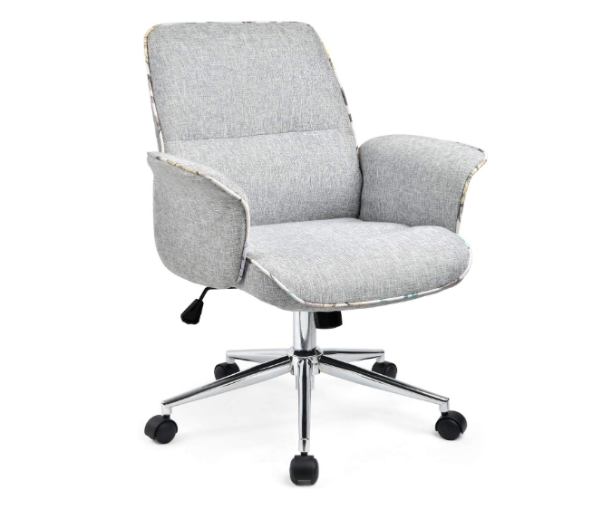 Comhoma Home Office Desk Chair Modern Fabric Upholstered