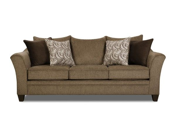 Simmons Upholstery Albany Queen Sleeper Sofa 6485 04Q Albany