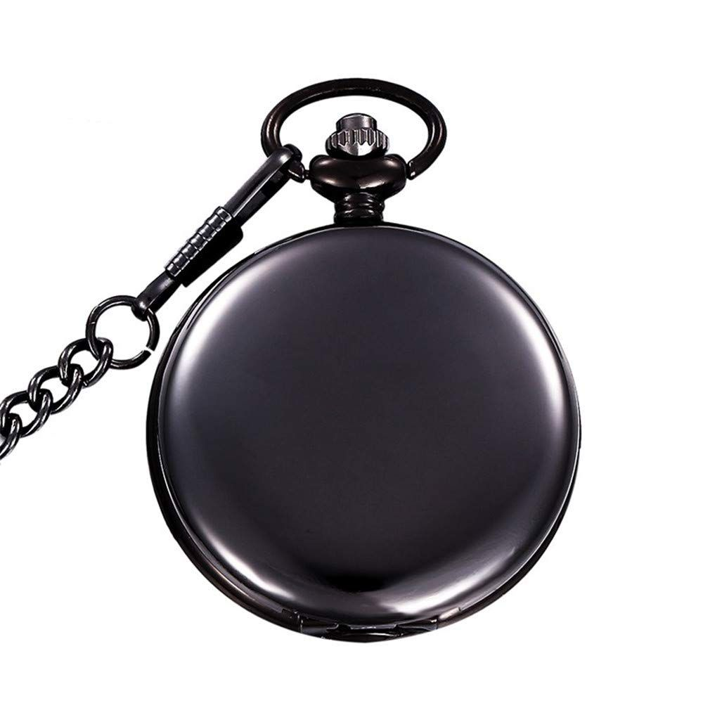 ca4b78e99 MJSCPHBJK Black Pocket Watch Roman Pattern Steampunk Retro Vintage Quartz  Roman Numerals Pocket Watch Black *** A lot more details can be located at  the ...