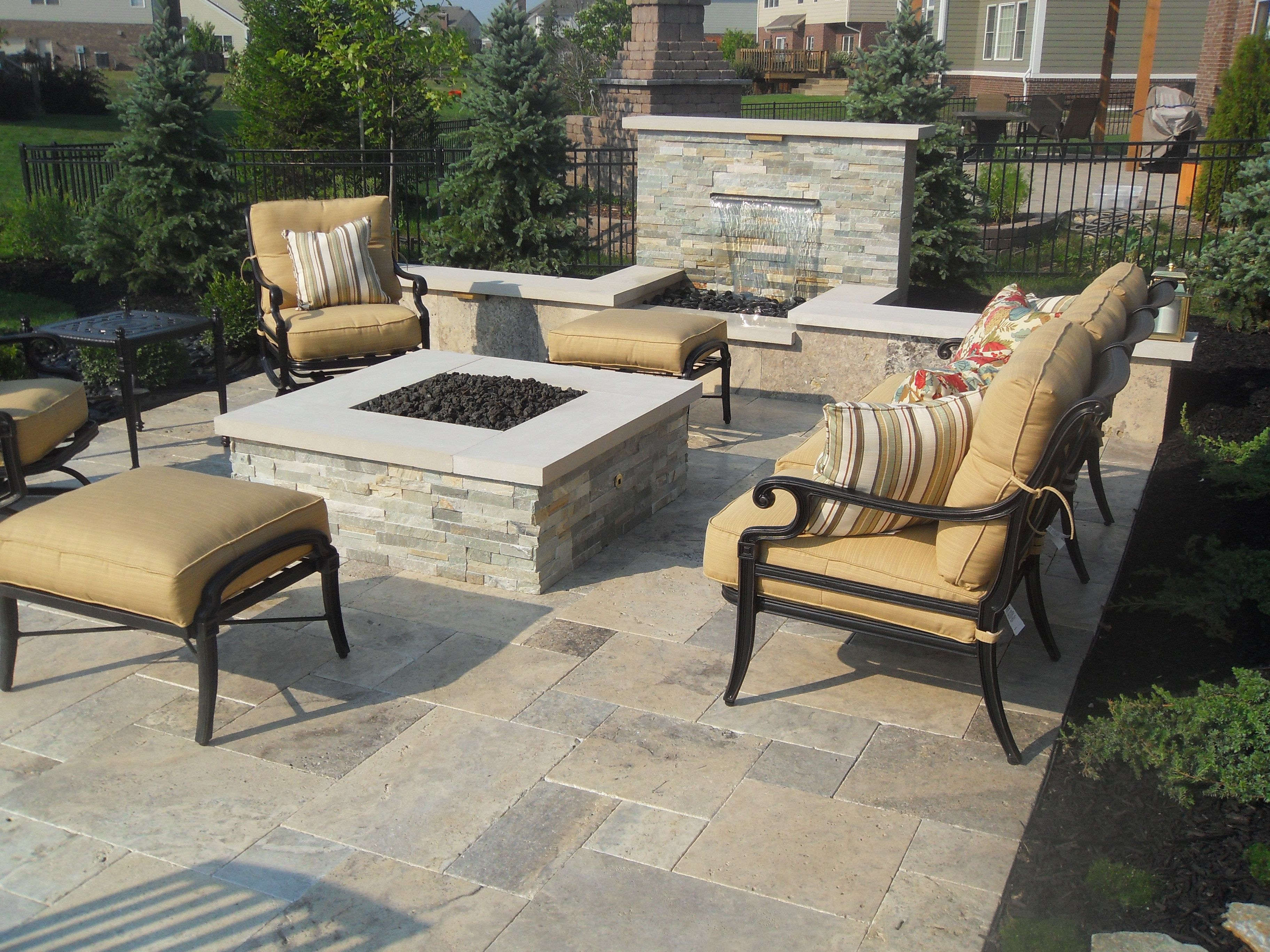Square Patio with Fire Pit Ideas