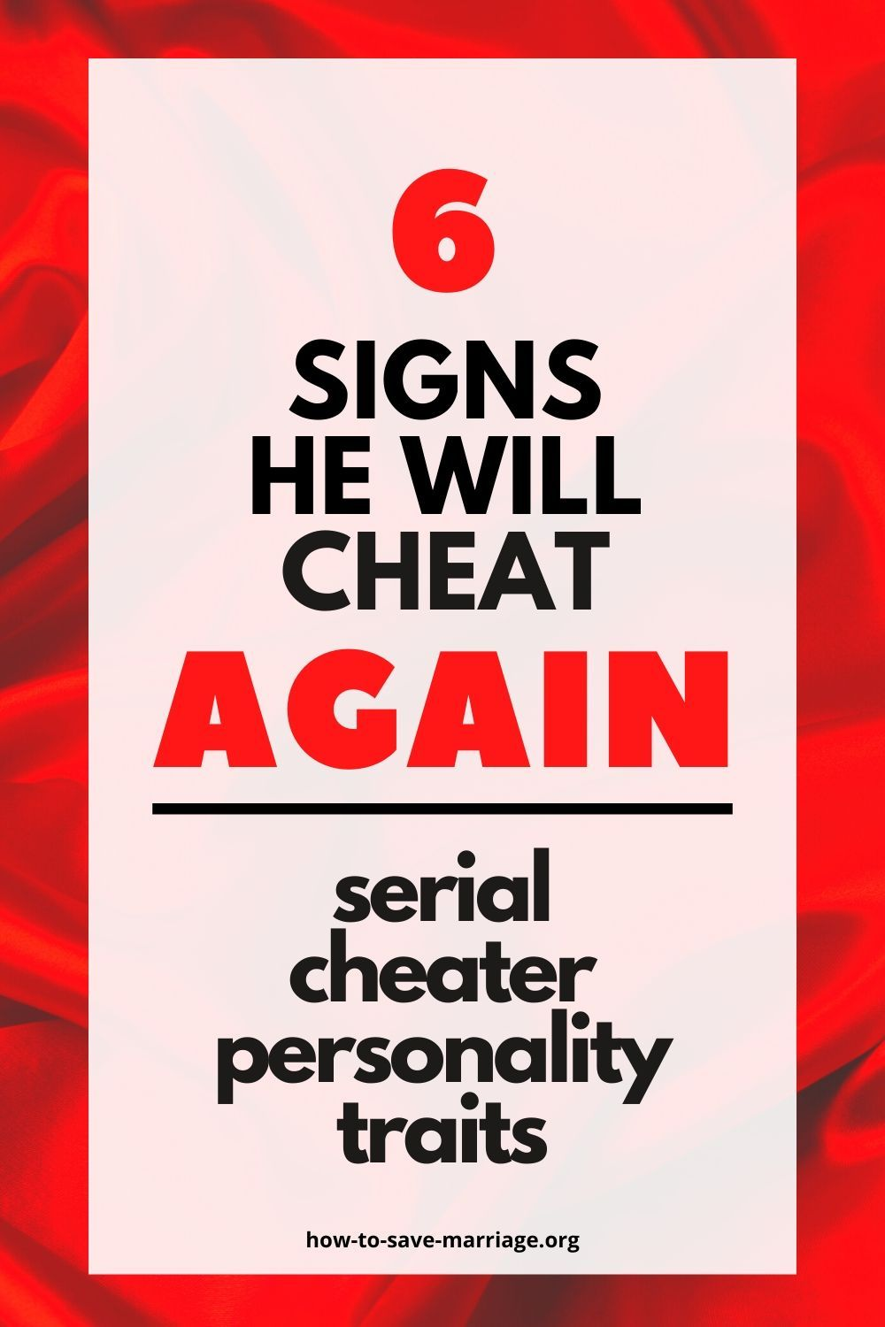 He a signs cheater s Signs of
