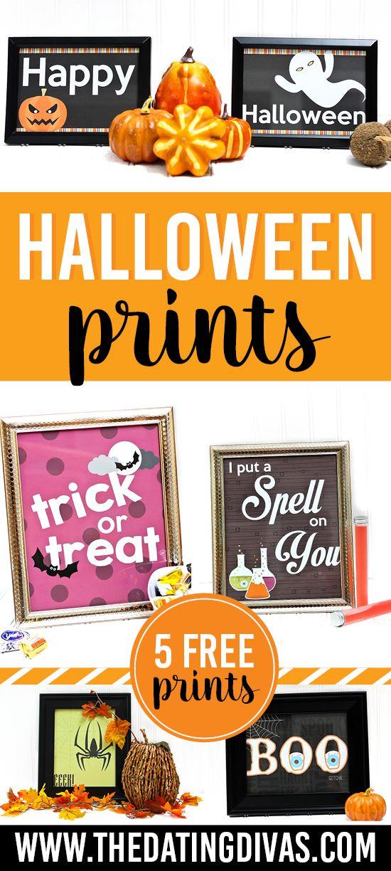 FREE Printable Halloween Prints | Halloween wall decor, Free and ...