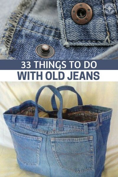 33 Things to Do with Old Jeans #recycledcrafts