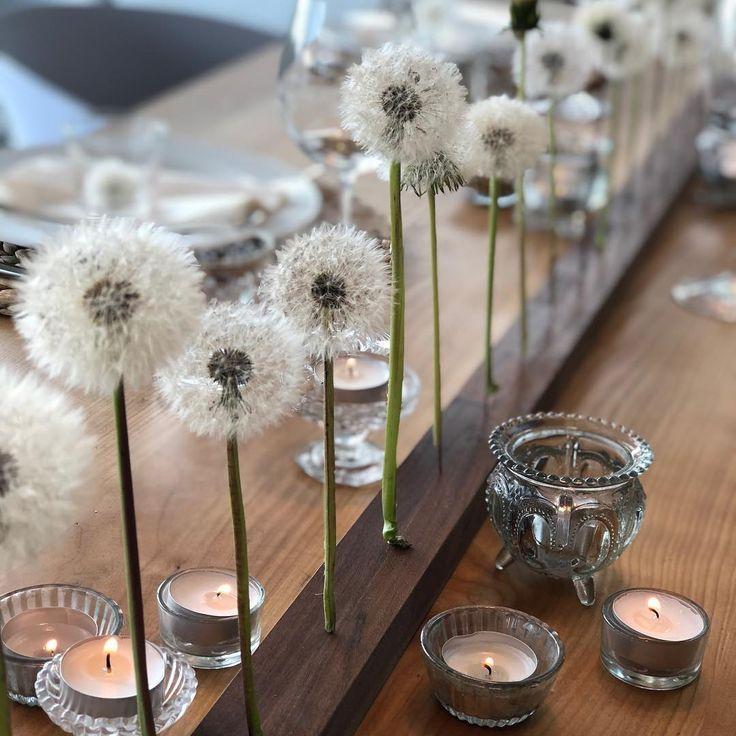 """@zauberpunkt on Instagram: """"Nachdem ich gestern die Pusteblumen so schön habe aufgehen lassen, habe ich sie als Tischdeko auf den Tisch gestellt😊 Mein Mann hat mir…"""""""
