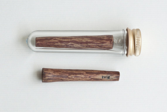 Small One Hitter Wooden Pipe One Shot Dugout Pipe