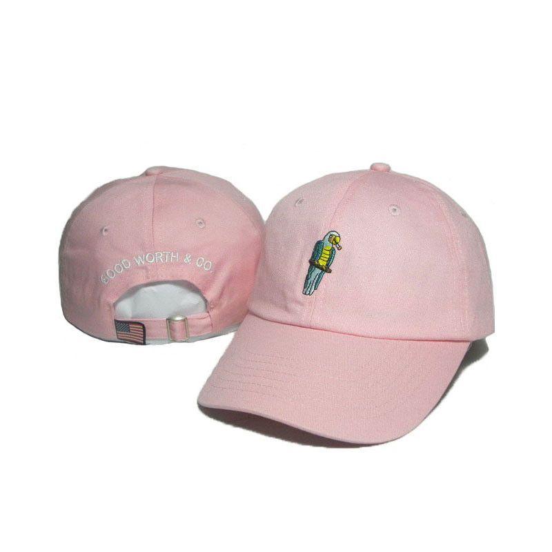 83ac6d0f83e good worth co brand caps fashion Pink Snapback Hat Hip-Hop Parrot embroidery  designer hats polo hat golf Sports visor cap bone