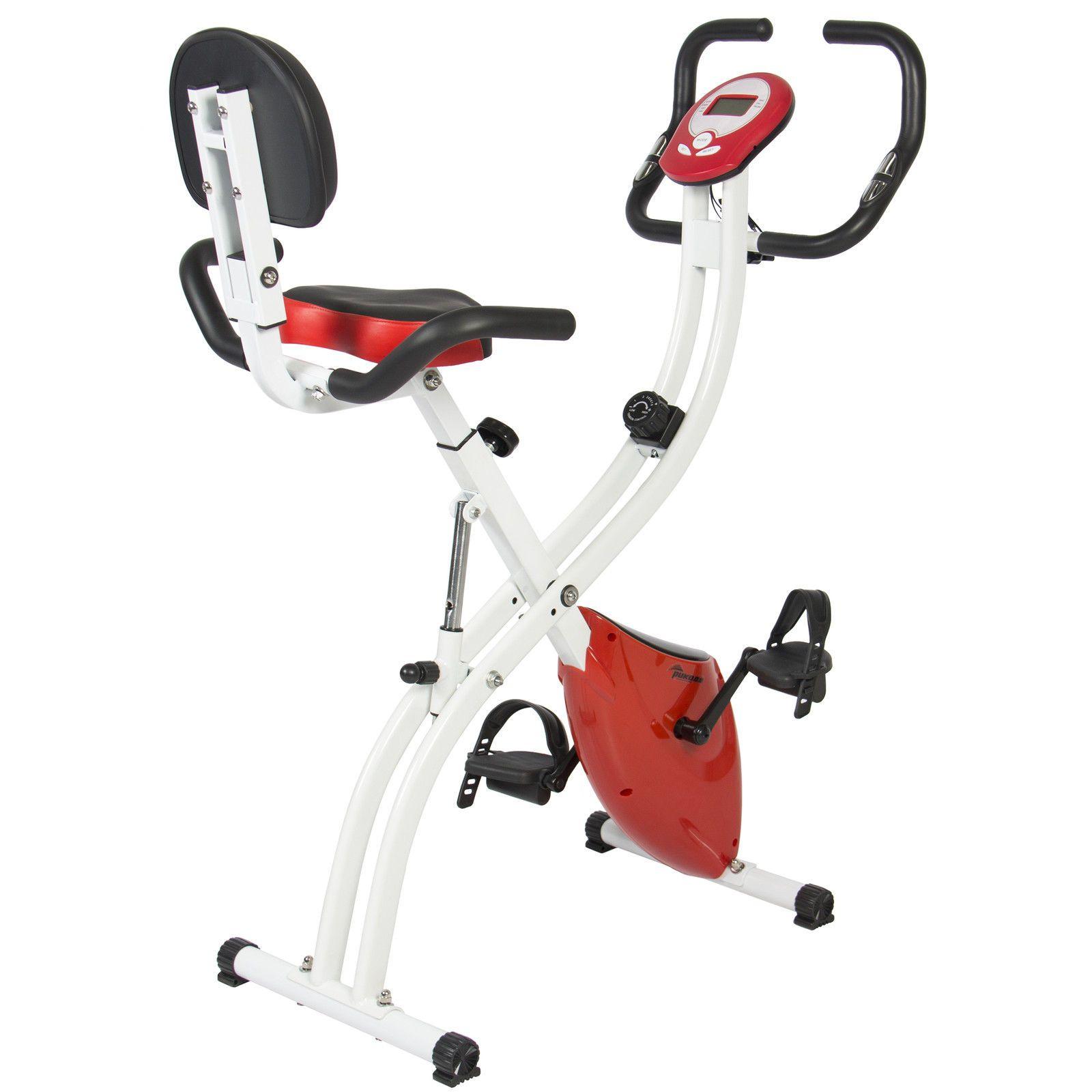 Bcp Folding Adjustable Magnetic Upright Exercise Bike Fitness