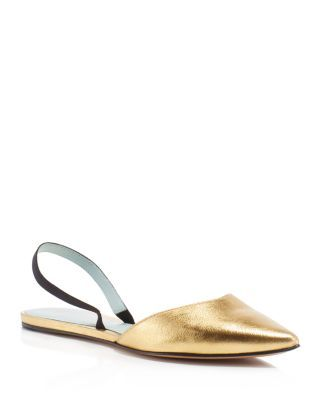 cheap eastbay Marc by Marc Jacobs Metallic Square-Toe Flats excellent cheap online m97Ve6