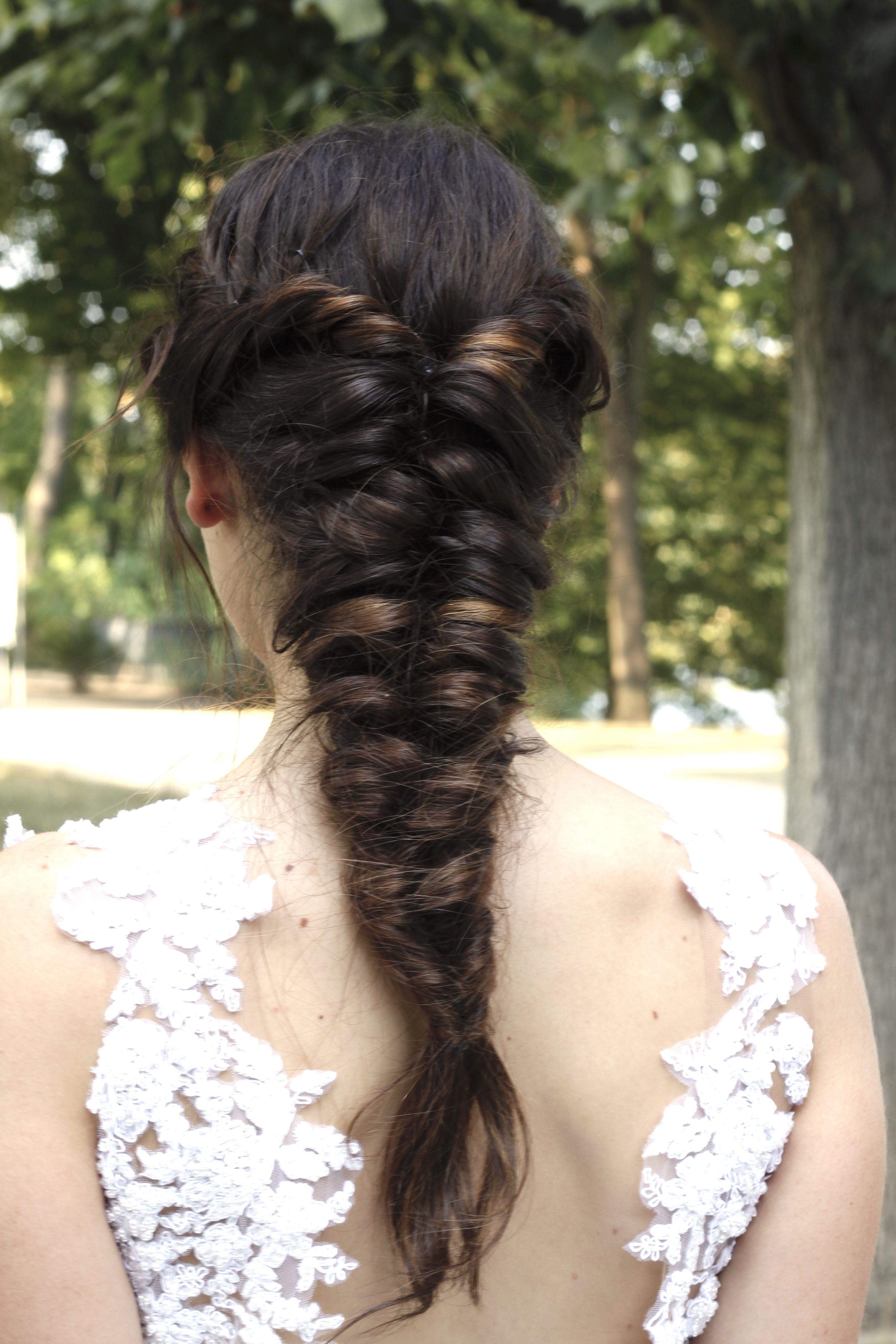 Braut Geflochtener Zopf Brautfrisur Hairstyle Bridalhair