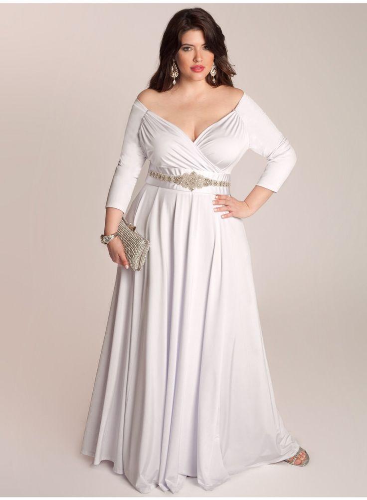 Trendy Wedding Dresses off the shoulder plus size wedding