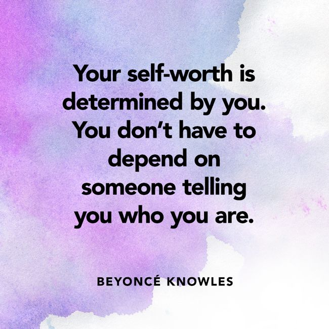Love Finds You Quote: Beyonce-quote-your-self-worth-is-determined-650x650