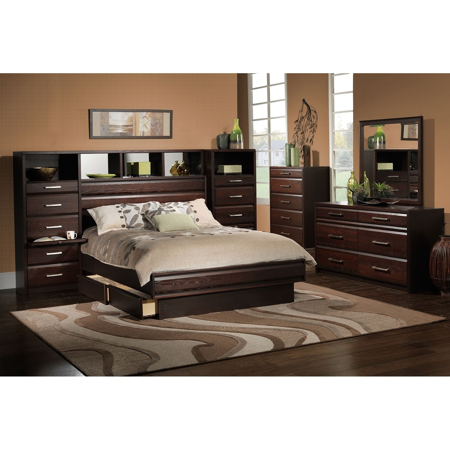 King Size Bed Wall Unit Bedroom Sets