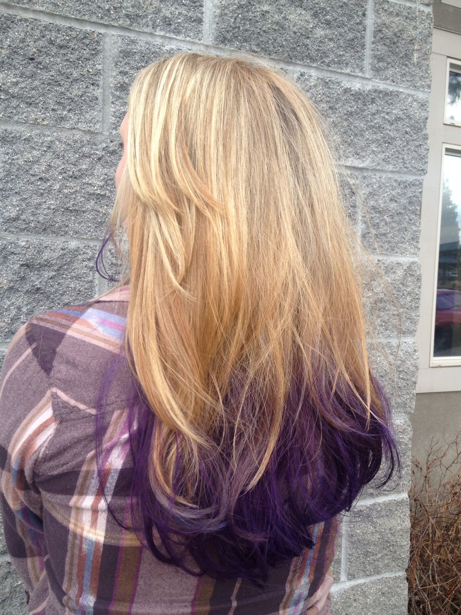 Blonde to purple ombré hairmakeup pinterest hair dyed hair