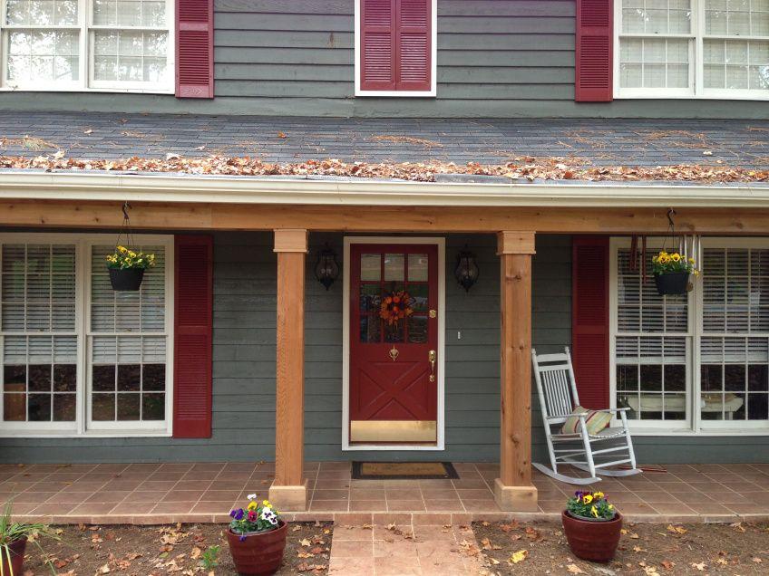 Cedar Columns East Cobb Porch House Front Porch