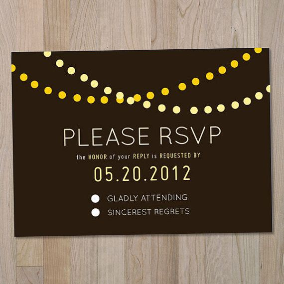 Language For RSVP Card W/song Request