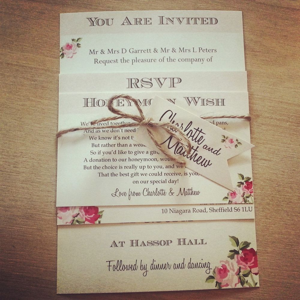 Captivating 1 Vintage /Shabby Chic Style U0027Charlotteu0027 Wedding Invitation Stationery  Sample