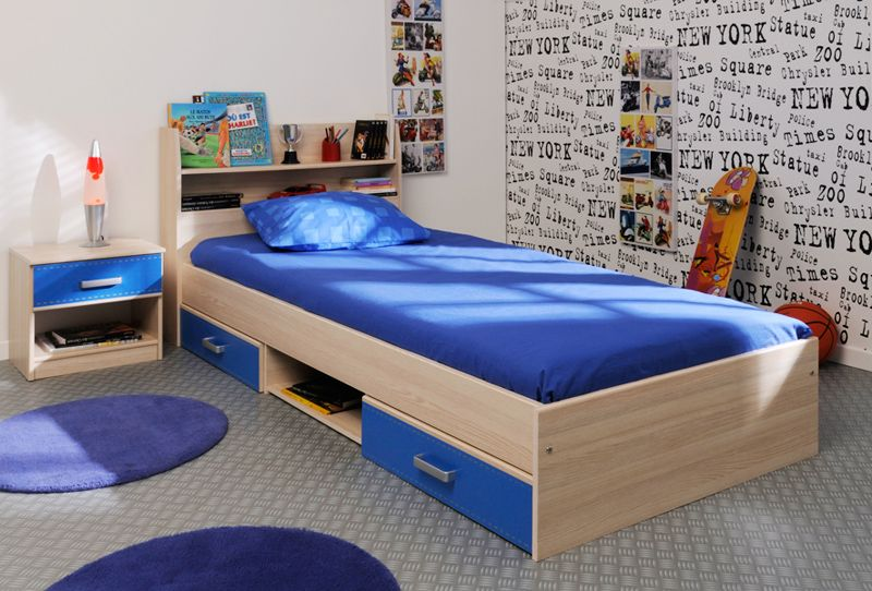Boy's New York Low Bed - A stylish and practical single bed with