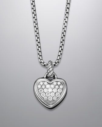 b89a499e28b61 Pave Diamond Cable Heart Necklace by David Yurman at Neiman Marcus ...