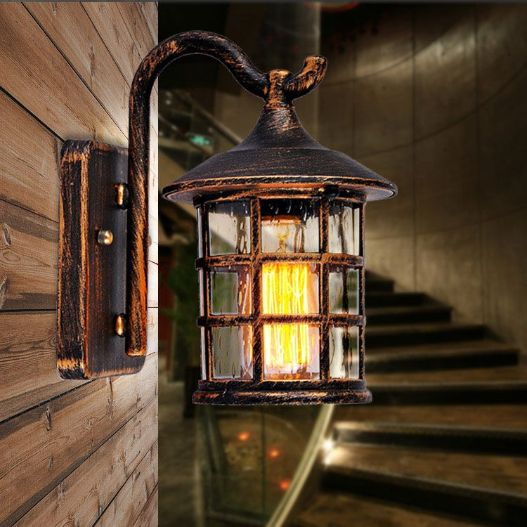 New american country style outdoor wall sconce lamp retro luminaria new american country style outdoor wall sconce lamp retro luminaria courtyard light for bar coffee shop mozeypictures