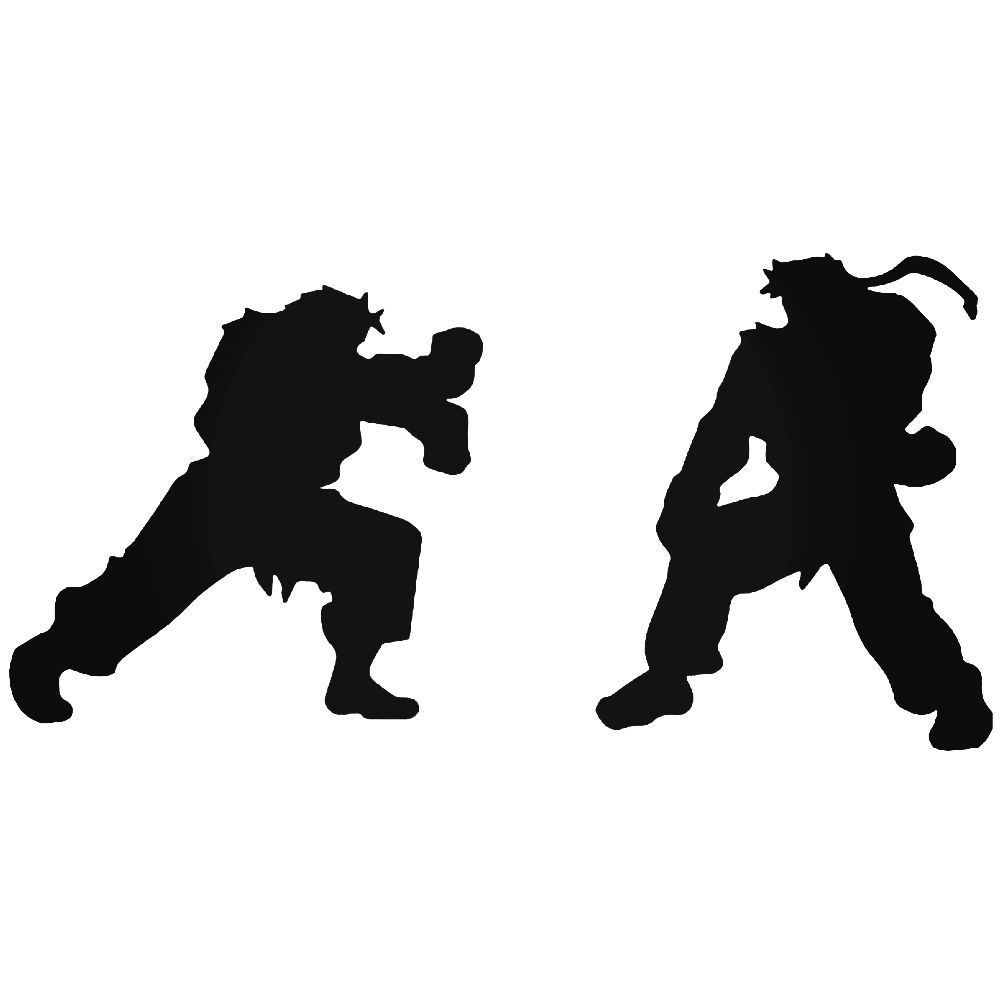Street fighter ryu ken fighting gaming vinyl decal sticker ballzbeatz com
