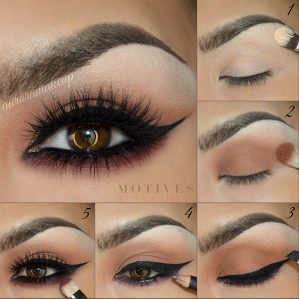 Scarlet And Brown Eye Shadow Makeup Night Time Tutorials