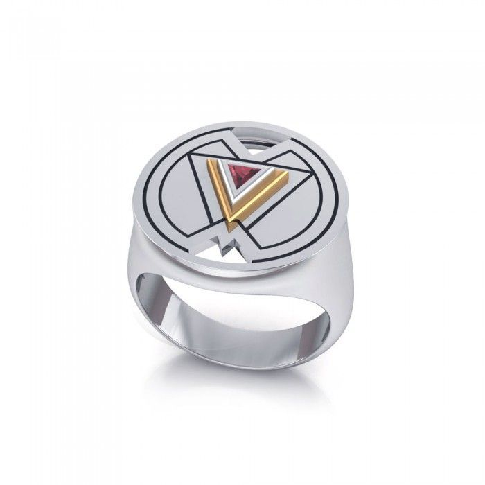 Symbols Of Femininity Sterling Silver And Gold Ring Mri1578