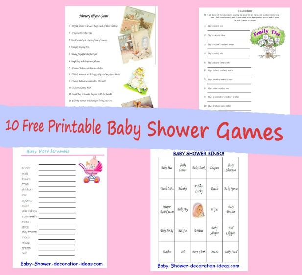 Free Online Printable Baby Shower Games: 31 Free Printable Baby Shower Games Your Guests Will