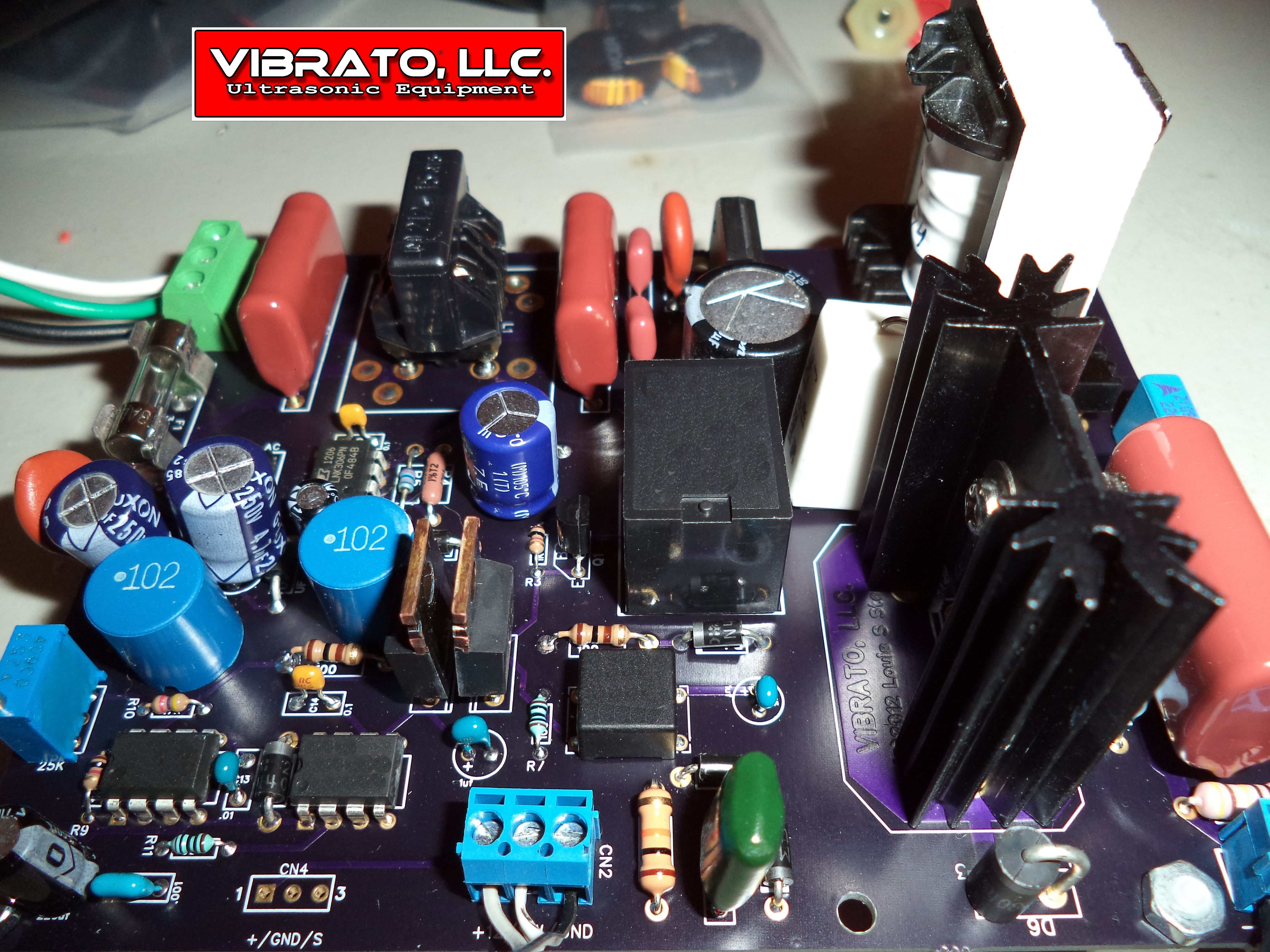 Ultrasonic One System By Vibrato Llc A New All In Generator Circuit And Buy Utilizing Our Patent Pending With The Power Supply Filter Circuits Integrated