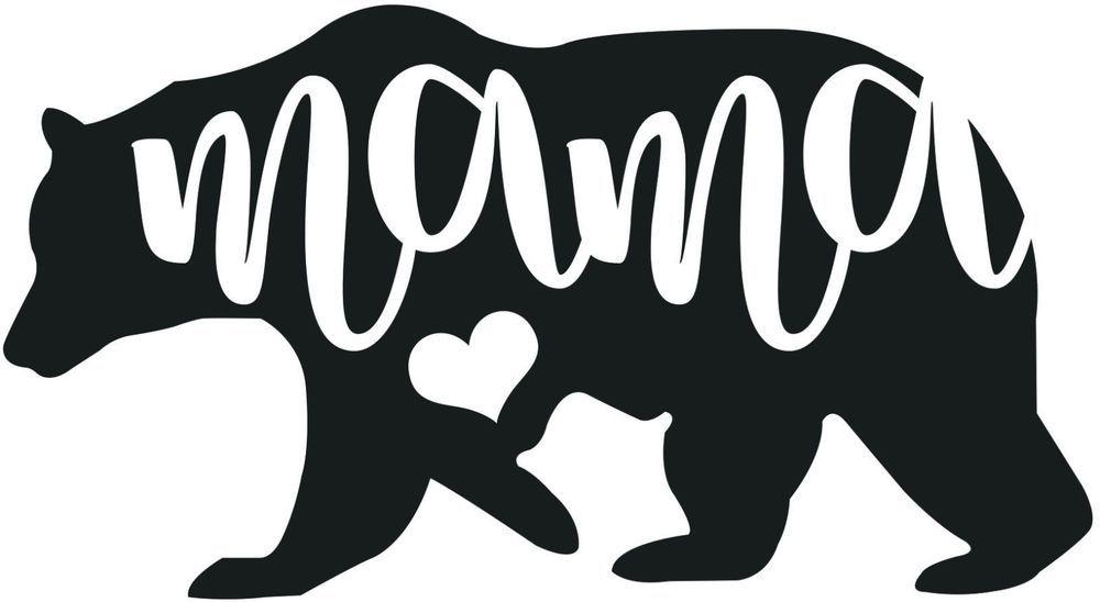 Mama bear decal sticker wall car window phone laptop mom