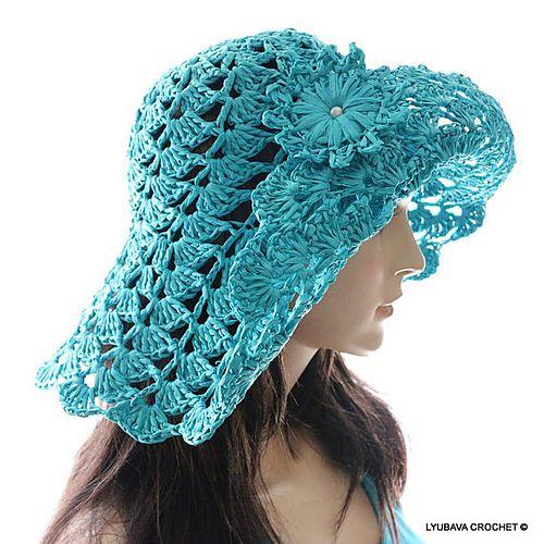 Crochet Pattern for hat, sunhat, floppy hat, sun hat on ...