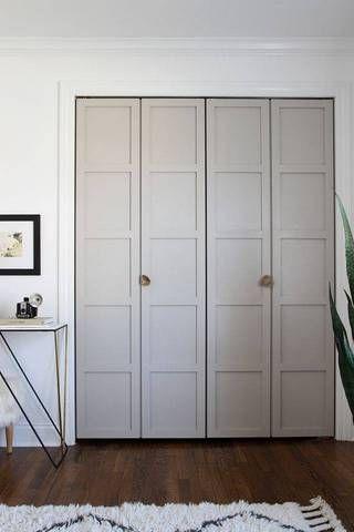 35 Shockingly Simple Ways To Hack An Ugly Interior Door. Folding Closet  DoorsBi Fold ...