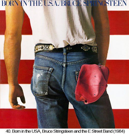 BRUCE SPRINGSTEEN BORN IN THE USA MUSIC POSTER 24X36