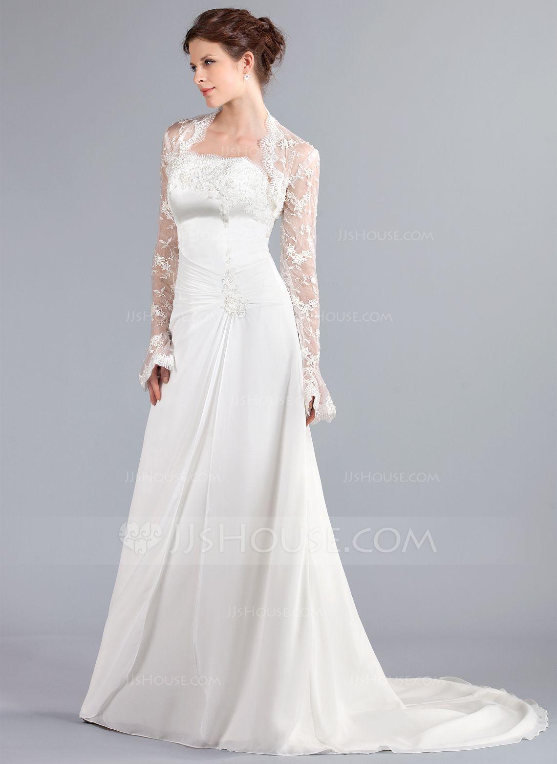Wrap Wedding Lace Long Sleeve Wraps | Wedding Jackets | Pinterest ...