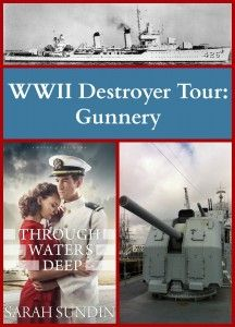 Come see World War II era destroyers, as featured in Sarah Sundin's new novel, Through Waters Deep. Today, see the armament that made the destroyer so effective.