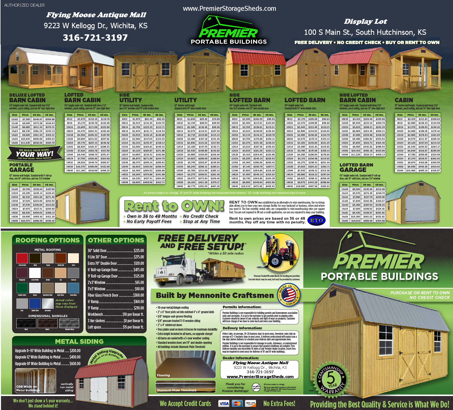 Premier Portable Storage Buildings Brochure Outside