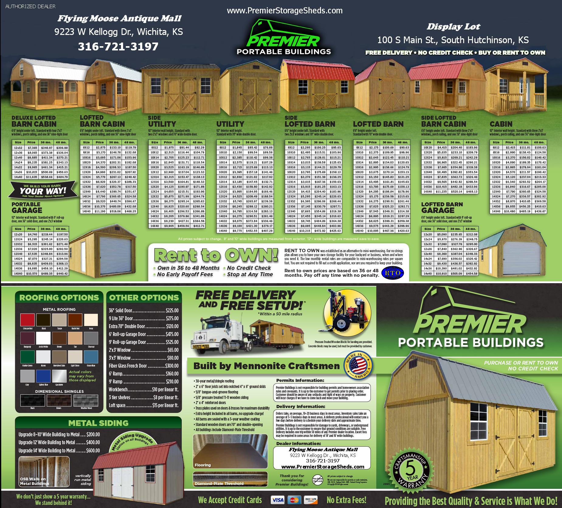 Premier Portable Storage Buildings Brochure Outside