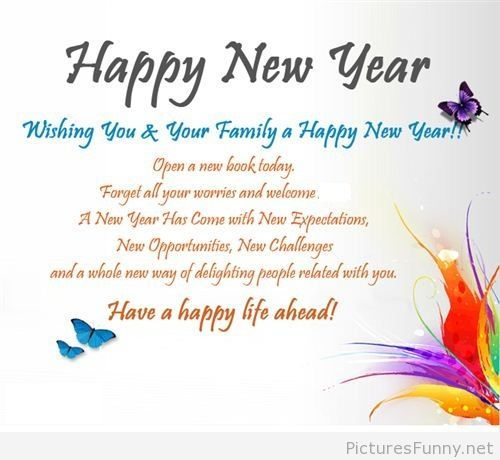 happy new year saying picture new