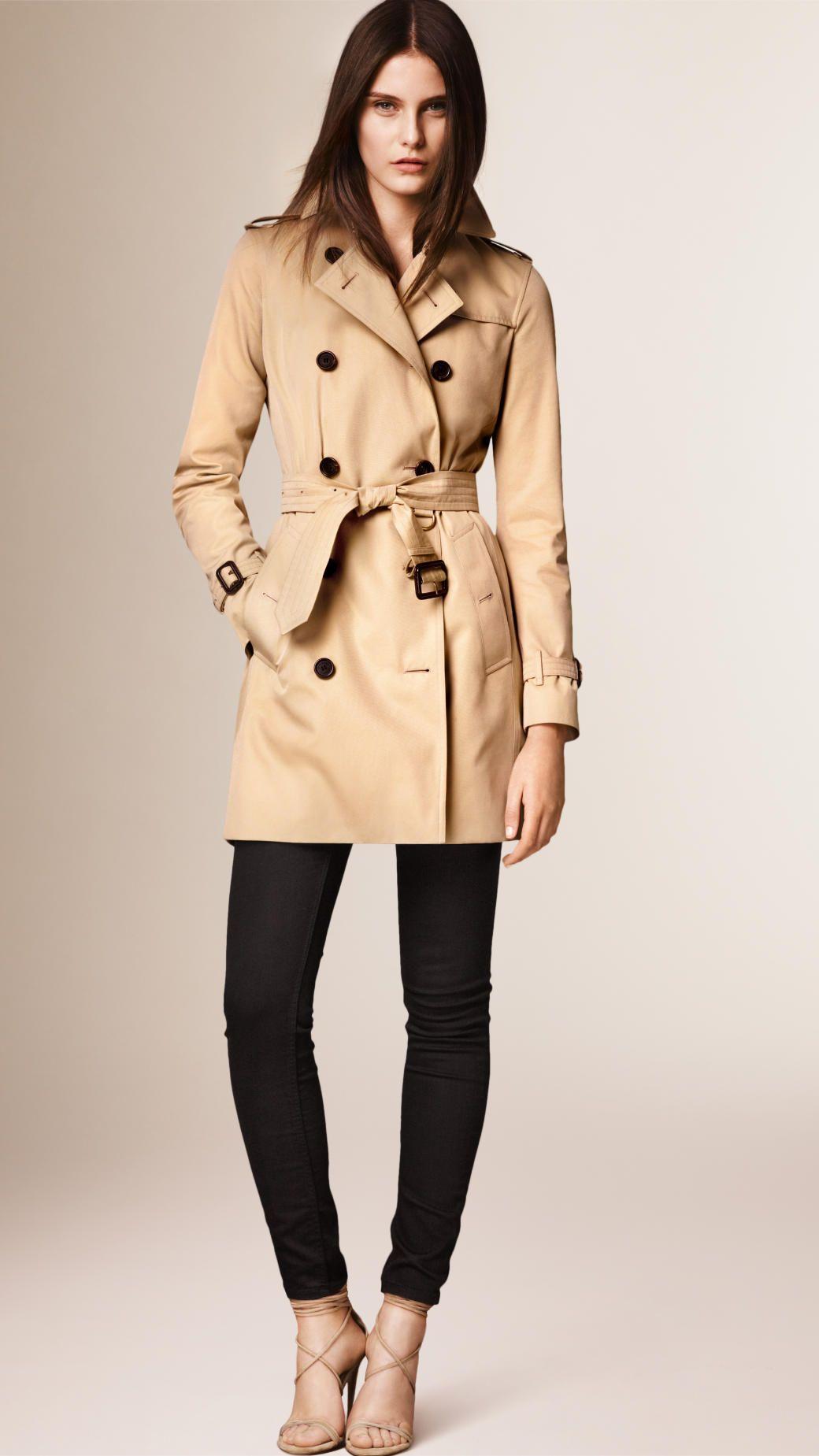 3ef690d92156e The Kensington – Trench-coat Heritage mi-long Miel
