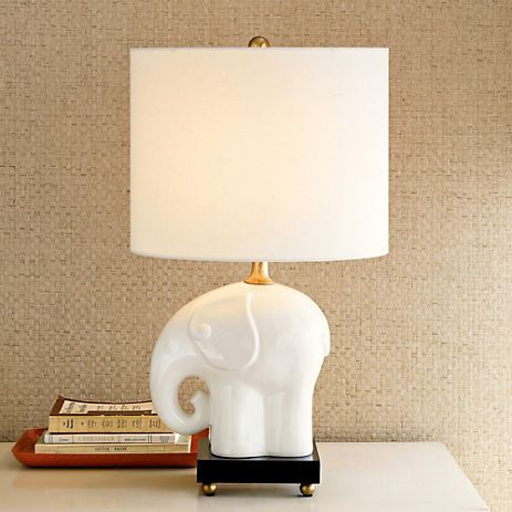 Elephant Table Lamp Gump S Shed Some Soft Light On A Console Or Side Table Our Porcelain Elephant Has Decorative Reli Elephant Table Lamp Lamp Table Lamp