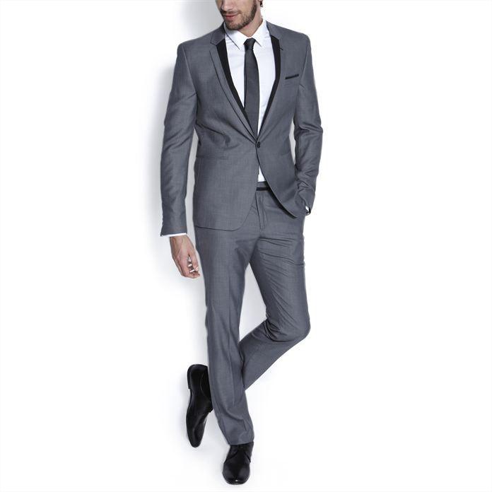 veste de costume slim gris clair homme la mode homme sur. Black Bedroom Furniture Sets. Home Design Ideas