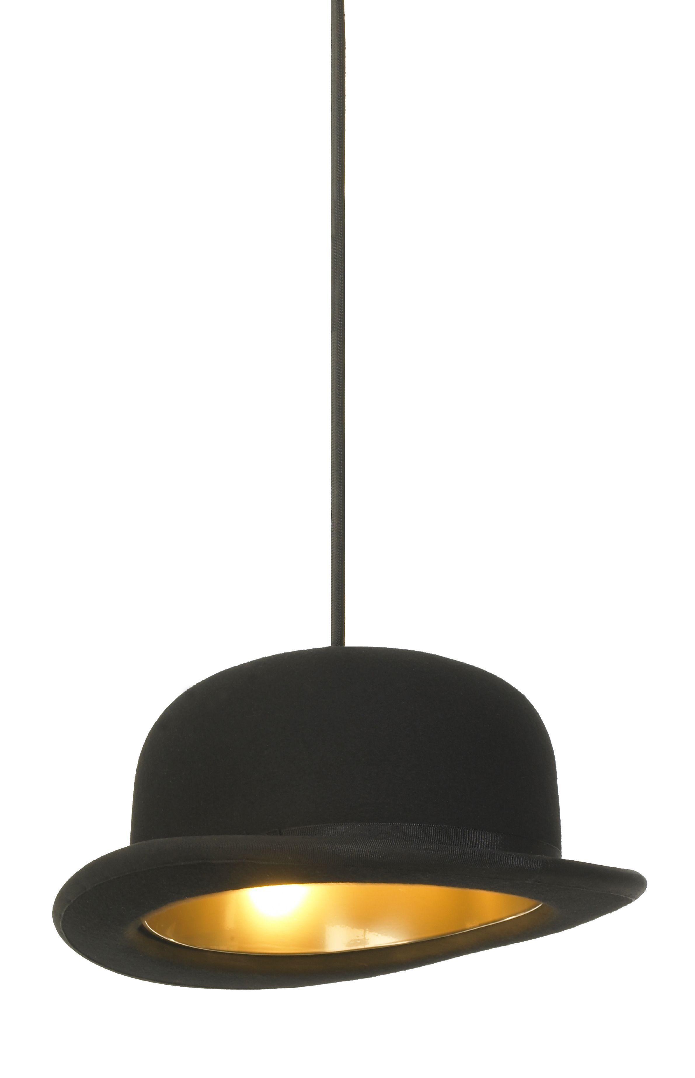 b2c1fdaa062 Jeeves Pendant Lamp. Materials  Wool felt bowler or top hat with anodised  aluminium lining ByNaken Interiors.  306.