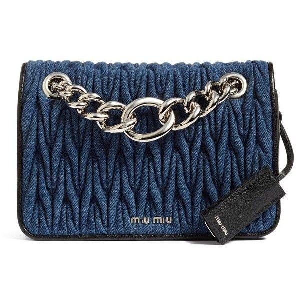 Women s Miu Miu Club Denim Shoulder Bag ( 1 50058b71dca06