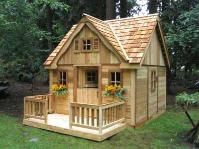 Casa de juegos de madera para ni os barata pinteres for Casas de jardin de madera baratas