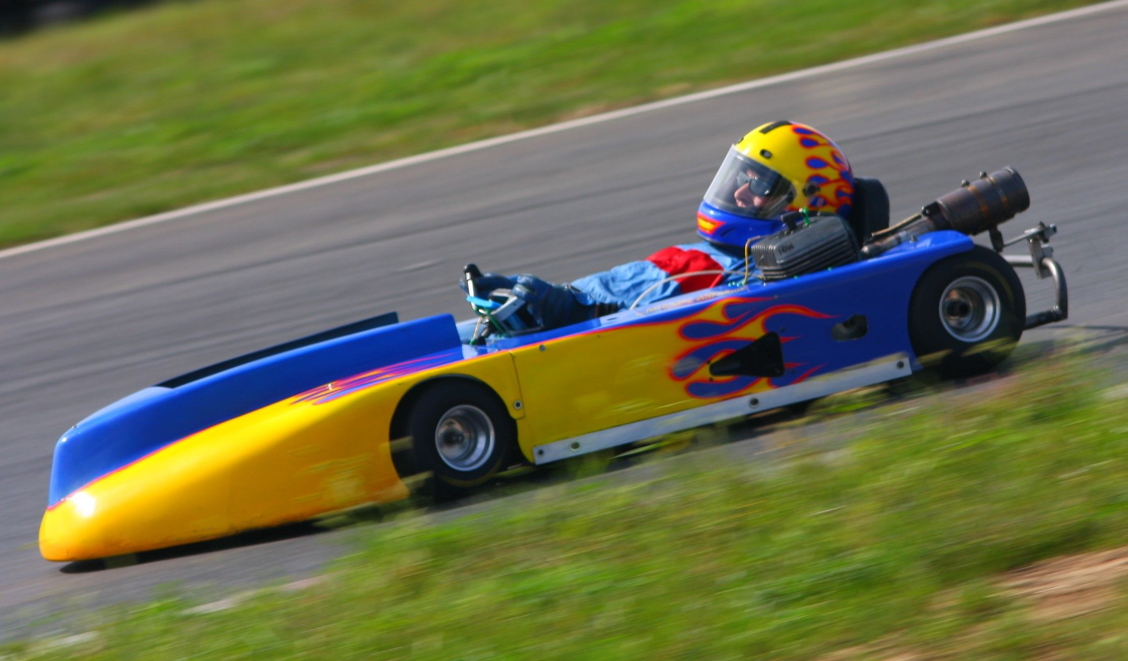 My sportsman setup at Thunderbolt, NJMP 2009 | Enduro karting | Kart