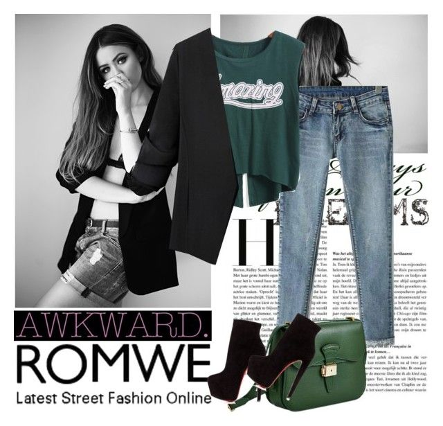 """""""romwe 4."""" by igor89 ❤ liked on Polyvore featuring mode, Dressage Collection, Christian Louboutin et romwe"""