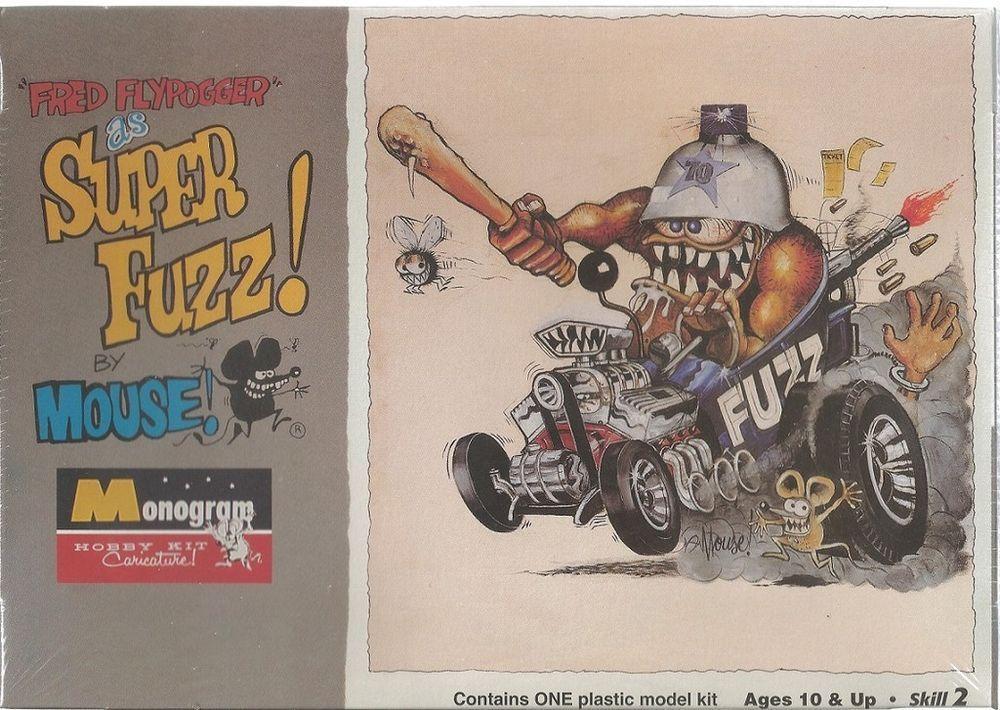 Monogram Fred Flypogger Super Fuzz! By Mouse! Plastic Model Car Kit #85-0104 #Monogram