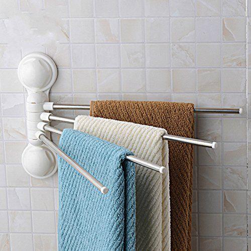 Towel Rack Vasoul Super Powerful Vacuum Suction Cup Hook 180 Gorgeous Bathroom Towel Bar Inspiration